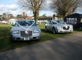 Modern Chrysler 300 wedding car in Arundel